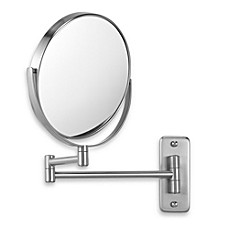 Jerdon Wall Mount 8X/1X Magnifying Swivel Mirror In Nickel