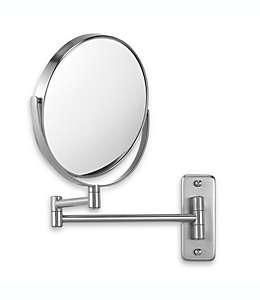 Espejo para pared Jerdon®, con aumento 8X/1X en níquel