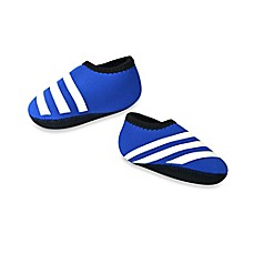 image of nufoot Everyday Striped Slipper in Blue/White