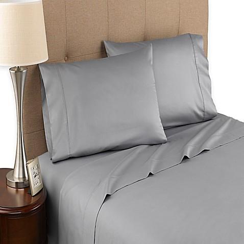 buy modern living 300 thread count organic cotton sheet set from bed bath beyond. Black Bedroom Furniture Sets. Home Design Ideas