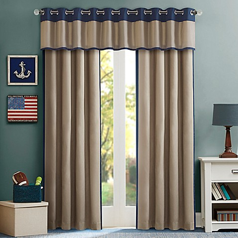 Mi zone kids liam window curtain panel and valance bed for Kid curtains window treatments