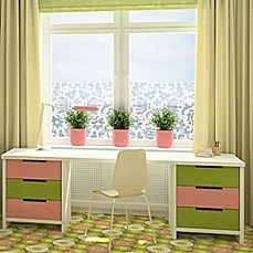 image of classic damask static cling window film
