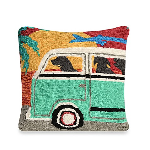Liora Manne Frontporch Beach Trip Sunset Square Throw Pillow - Bed Bath & Beyond