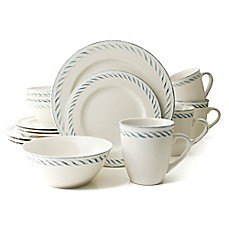 image of Thomson Pottery Nautical Dutch 16-Piece Dinnerware Set in White