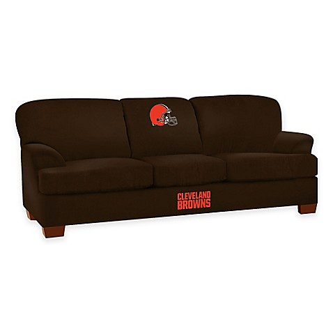 buy nfl cleveland browns microfiber first team sofa from bed bath beyond. Black Bedroom Furniture Sets. Home Design Ideas