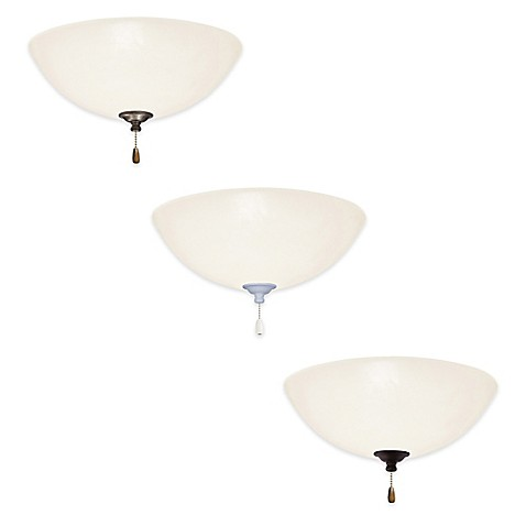 emerson opal matte led ceiling fan fixture with glass shade bed