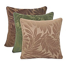 image of Arlee Home Fashions® Alessandra Chenille Jacquard Leaves Throw Pillow (Set of 2)