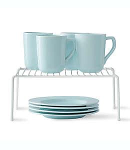 SALT™ Organizador de platos mediano en blanco