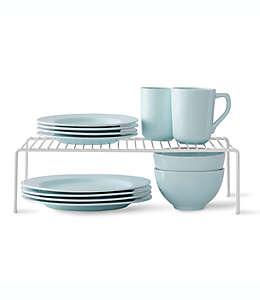 SALT™ Organizador de platos grande en blanco