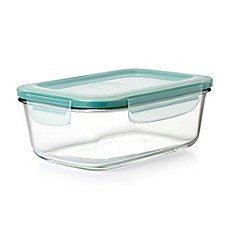 image of OXO Good Grips® Smart Seal Rectangle Glass Snap Container
