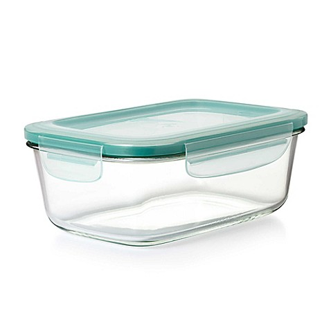 image of oxo good grips snap rectangle glass snap container