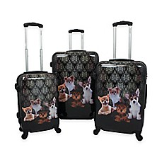 image of Chariot 3-Piece Luggage Set in Doggies