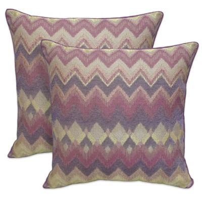 Chenille Throw Pillows Set Of 2 Clearance : Buy Arlee Home Fashions Bianca Chenille Chevron Square Throw Pillow in Plum (Set of 2) from Bed ...