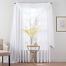 image of Smart Sheer™ Insulated Linen Voile Sheer Window Curtain Panel and Valance