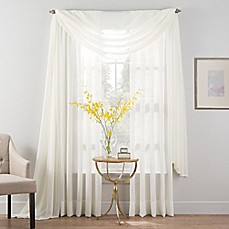 image of Smart Sheer™ Insulated Crushed Voile Sheer Window Curtain Panel and Valance