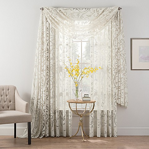 Curtains Ideas bed bath & beyond curtains and drapes : Smart Sheer™ Insulated Burnout Voile Sheer Window Treatments - Bed ...