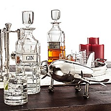 Godinger Airplane Cocktail Shaker with Stand