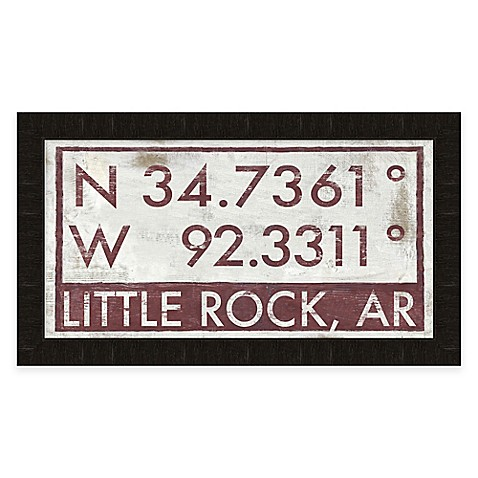 Little Rock Arkansas Coordinates Framed Wall Art Bed