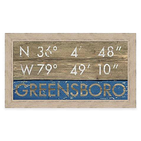 Framed Gicl E Greensboro Coordinates Print Wall Art Bed