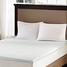 Image Of Sleep Philosophy Flexapedic 2 Inch Memory Foam Mattress Topper In White