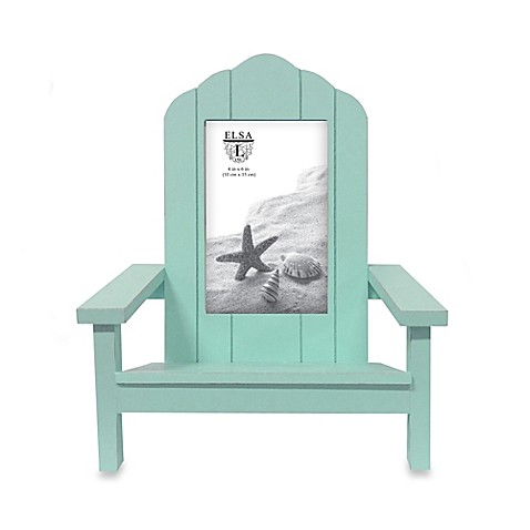 Buy elsa l coastal 4 inch x 6 inch adirondack chair picture frame in green from bed bath beyond - Adirondack bed frame ...