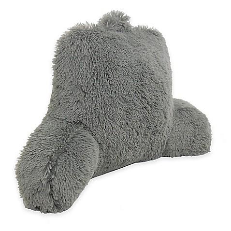 Warmly Shaggy Faux Fur Backrest Pillow Bed Bath Amp Beyond