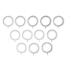 Image Of Classic Home Metal Rings In Sun Bleached Linen (Set Of 12)  Curtain Rod Rings