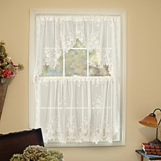 Heritage LaceR Tea Rose Window Curtain Tier