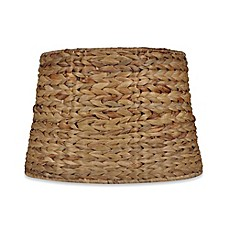 Lamp chandelier shades bed bath beyond mix amp match medium 9 inch seagrass drum lamp shade aloadofball Images