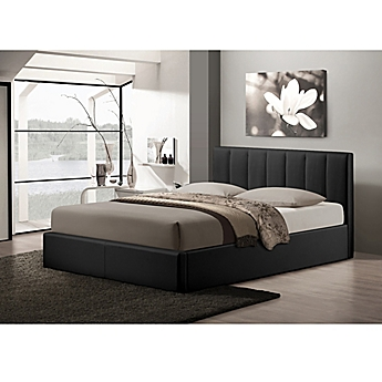 image of Baxton Studio Templemore Upholstered Queen Platform Bed with  Storage. Beds   Bunk Beds   Twin  King   Queen Size Beds   Bed Bath   Beyond