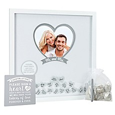 image of Pearhead® 20-Inch x 20-Inch Wedding Wishes Shadow Box in White