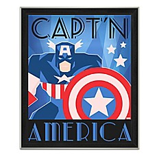 image of Marvel® Framed Captain America Graphic Wall Art