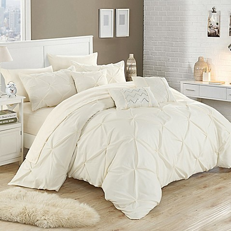Chic home salvatore 10 piece comforter set bed bath beyond for Matching bedroom and bathroom sets