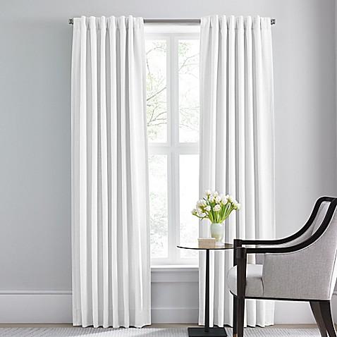 Buy Barbara Barry Modern Drape Rod Pocket Back Tab 120 Inch Window Curtain Panel In Pure From