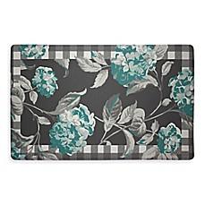 Exceptionnel Laura Ashley® Hydrangea 32 Inch X 20 Inch Memory Foam Kitchen Mat