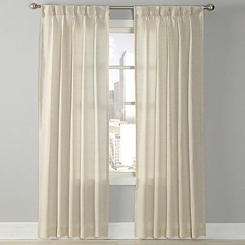 Splendor Grommet Glide Pinch Pleat Sheer Window Curtain