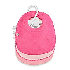 image of Frenchie Mini Couture 3-Pack Milk Catcher Waterproof Terry Girl's Bibs in Pink