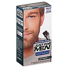 image of Just For Men® Mustache and Beard Brush-In Color Gel in Light Brown