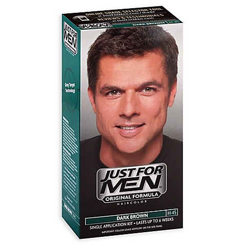 Buy Just For Men Shampoo Hair Color In Dark Brown H45 From Bed Bath Amp B