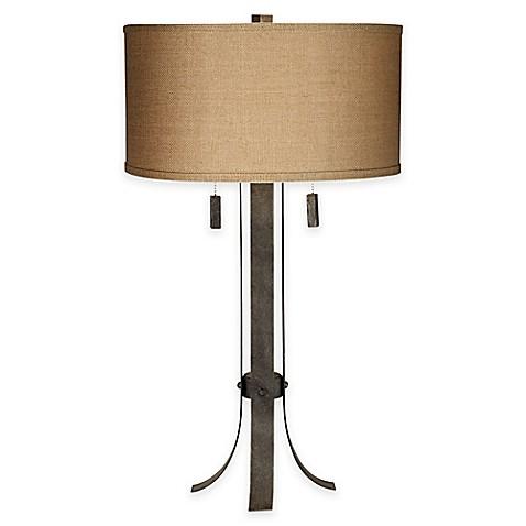 pacific coast lighting pullman 2 light table lamp in grey. Black Bedroom Furniture Sets. Home Design Ideas