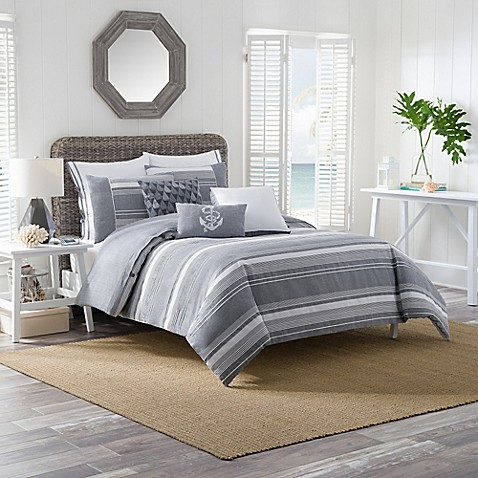 harbor striped duvet cover set bed bath amp beyond 85754