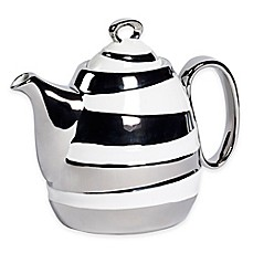 image of Studio TU® by Tabletops Unlimited® Sterling 37 oz. Teapot in Silver