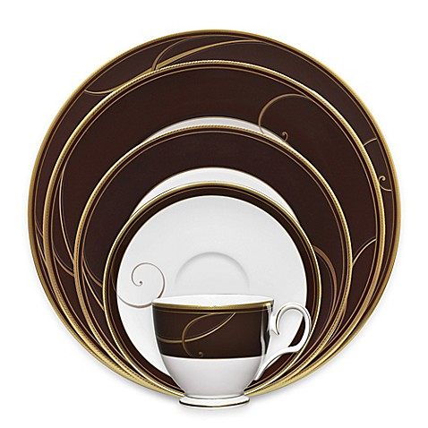 Noritake® Golden Wave Chocolate Dinnerware Collection - Bed Bath ...