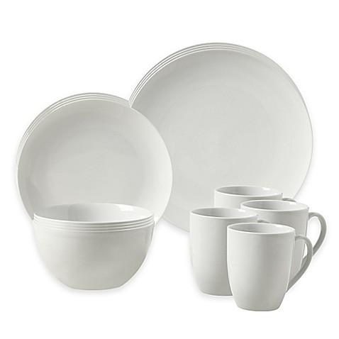 Tabletops Gallery® Adams 16-Piece Coupe Dinnerware Set - Bed Bath ...