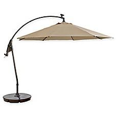 11 Foot Round Solar Cantilever Umbrella In Sunbrella® Beige
