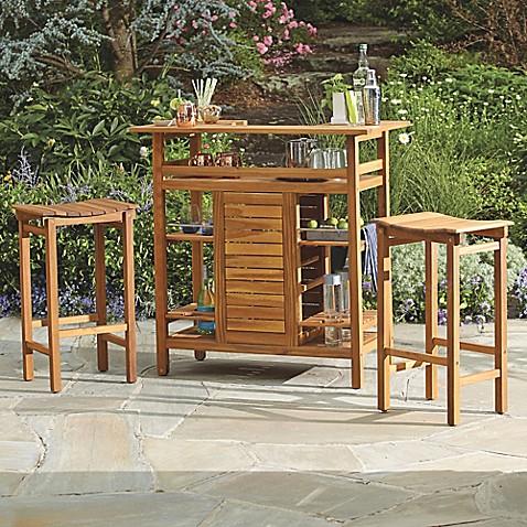 Image Of Westerly Acacia Wood Bar Table
