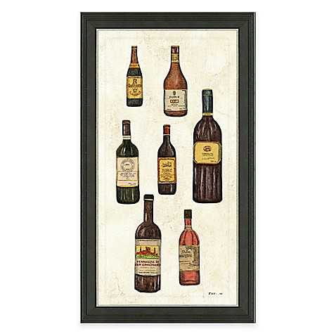Buy framed gicl e wine bottles panel i print wall art from for Where to buy framed art