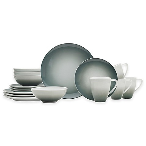 Mikasa® Naya 16-Piece Dinnerware Set in Grey Ombré