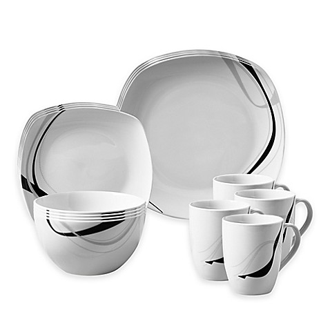 Tabletops Galleryu0026reg; Carnival 16-Piece Square Dinnerware Set  sc 1 st  Bed Bath u0026 Beyond : tabletops dinnerware sets - pezcame.com
