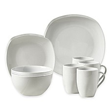 image of Tabletops Unlimited® Logan 16-Piece Dinnerware Set in White